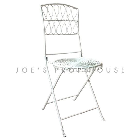Chaise de Jardin Métallique Blanc