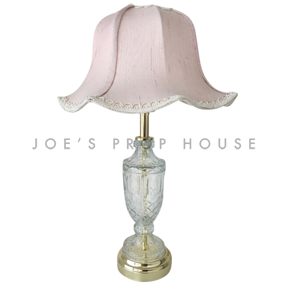 Felicia Cut Glass Tulip Lampshade Table Lamp