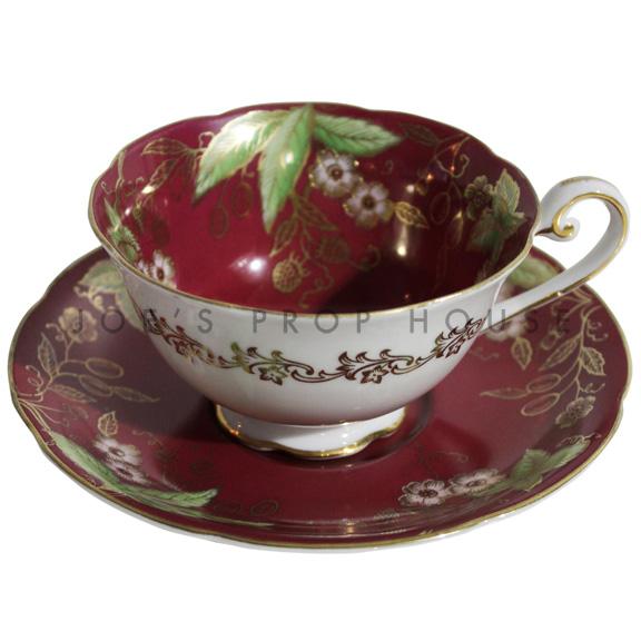 Tasse à thé et soucoupe à fleurs Charissa