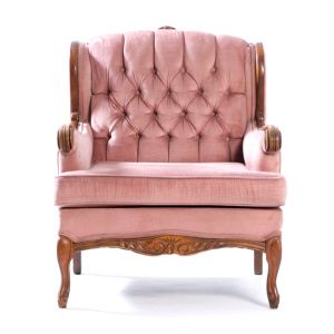Rose Tufted Armchair Pink