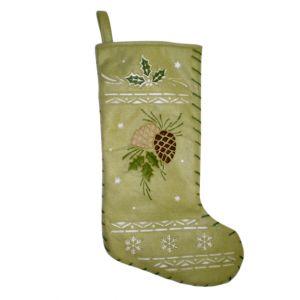 BUY ME / USED ITEM $12.99 Pinecone Christmas Stocking