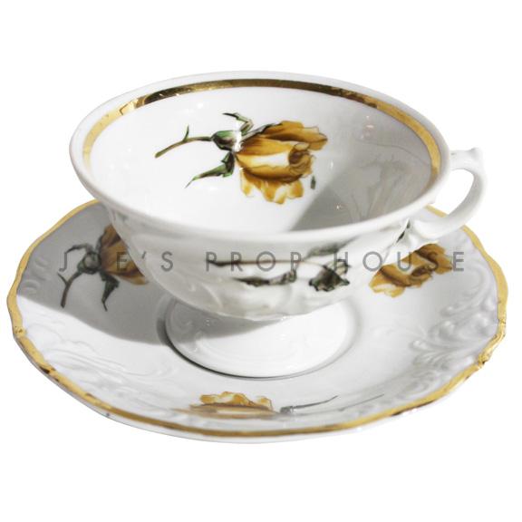 Tasse à thé et soucoupe à fleurs Hester