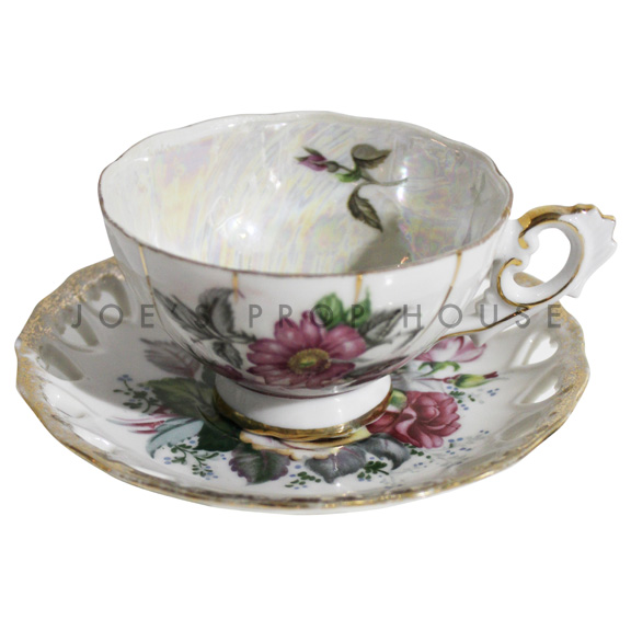 Tasse à thé et soucoupe florale Hilda