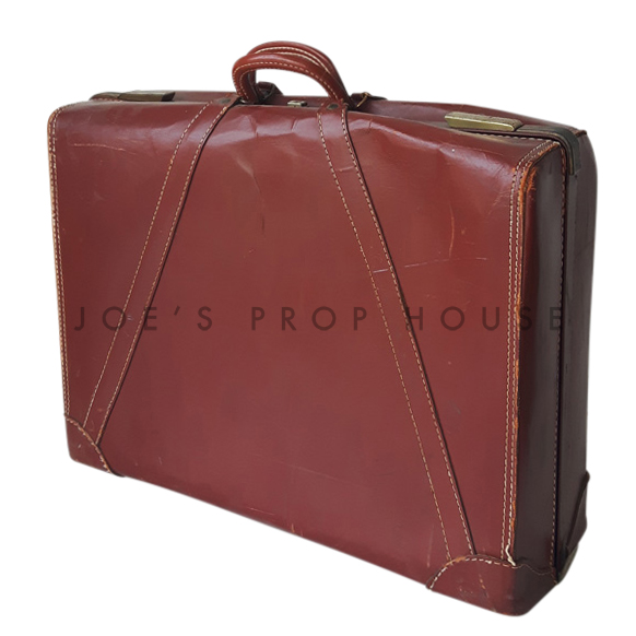 Viktor Leather Suitcase Brown