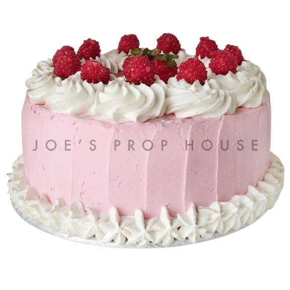 Raspberry Frost Prop Cake