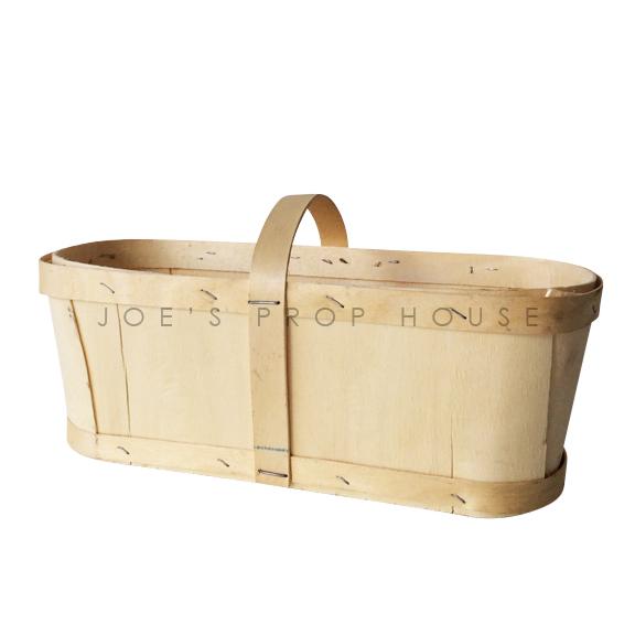 Panier à baies de copeaux de bois avec poignée