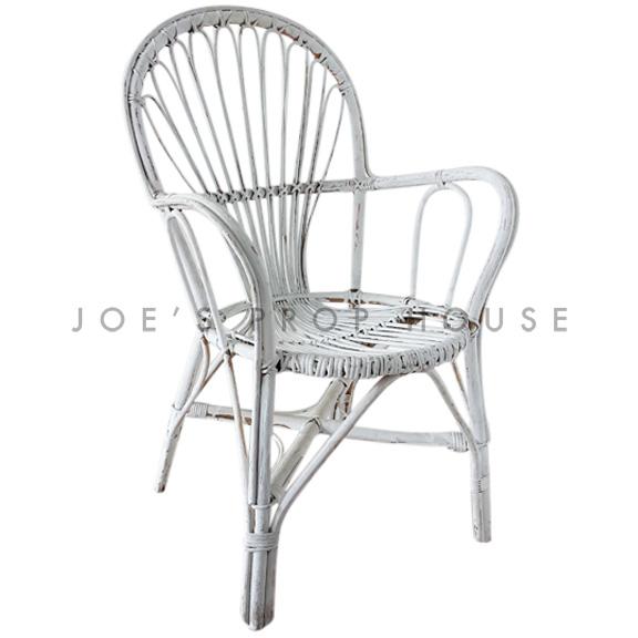 Novak Wicker Chair White