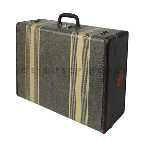 Porter Double Stripe Hardshell Suitcase Black
