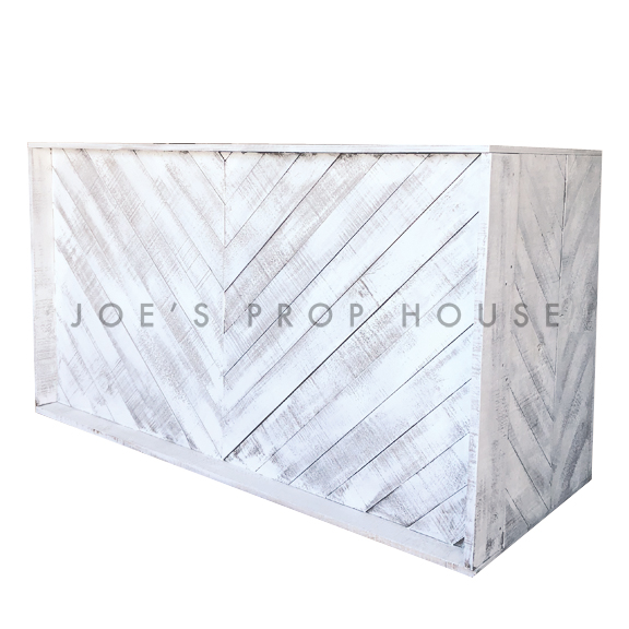 Whitewash Herringbone Bar L6ft