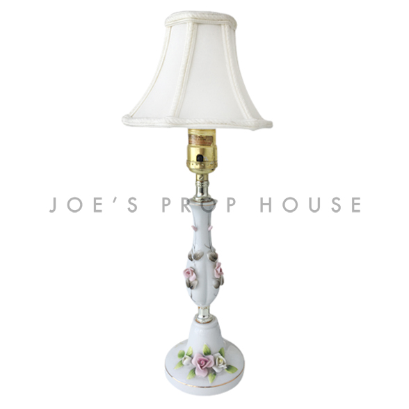 Kimberly - Lampe de table en porcelaine à motif floral (lot de 2)