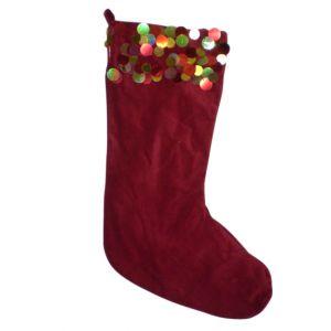 BUY ME / USED ITEM $12.99 Red Velvet Christmas Stocking