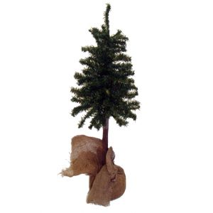 BUY ME / USED ITEM 2ft Artificial Christmas Tree w/ burlap covered base