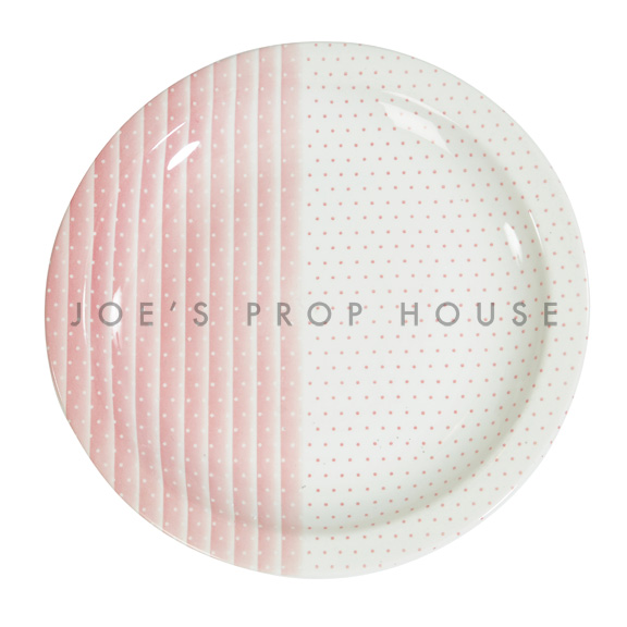 Polka Dot & Stripes Dinner Plate