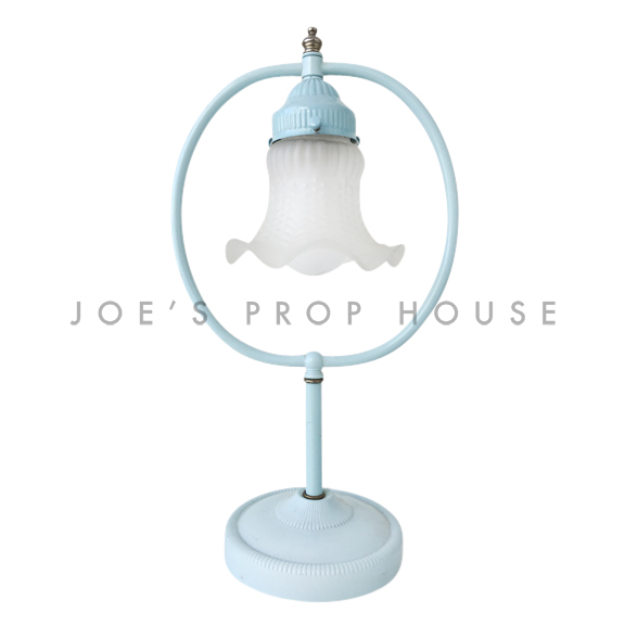 O-Tulip Frosted Glass Table Lamp Light Blue