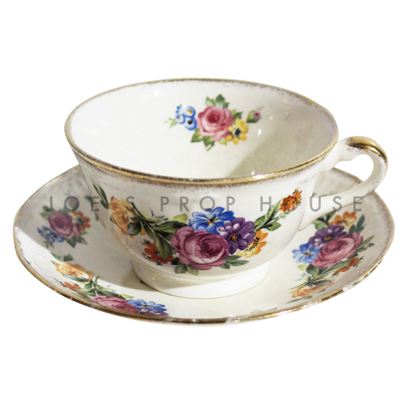 Miranda Floral Teacup and Saucer