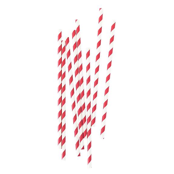 BUY ME / NEW ITEM $1.99 each Red Stripe Paper Straws - 25 Pack