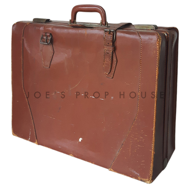 Nichols Leather Suitcase Brown