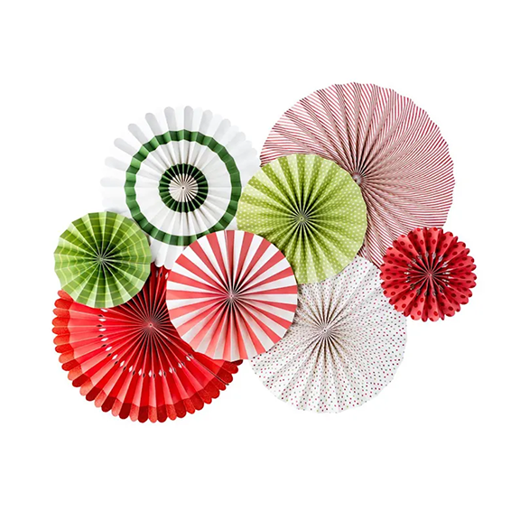 BUY ME / NEW ITEM $24.99 each Holiday Party Pack of 8 Paper Fans
