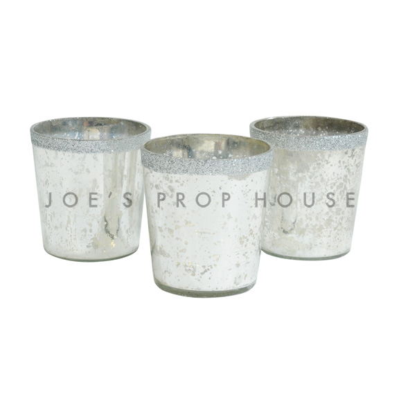 Mercury Glass Votive Cups Silver