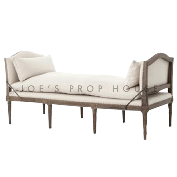 Lamont Linen Chaise Ivory L72in x P30po x H34po