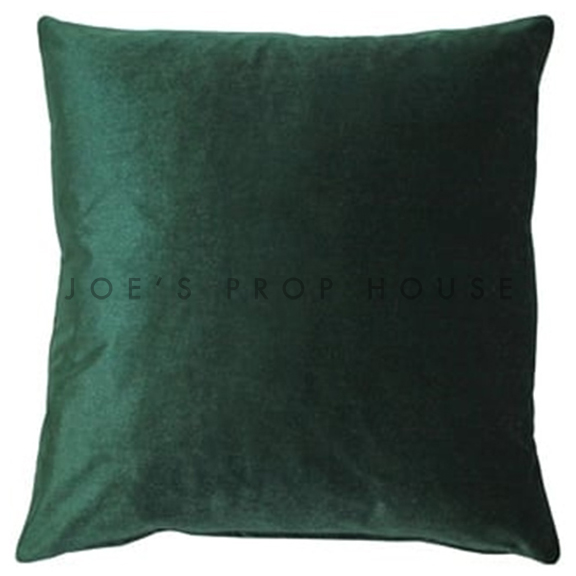 Emerald Green Velour Accent Pillow