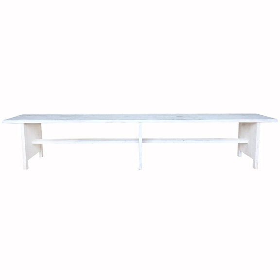 Whitewash Wooden Bench