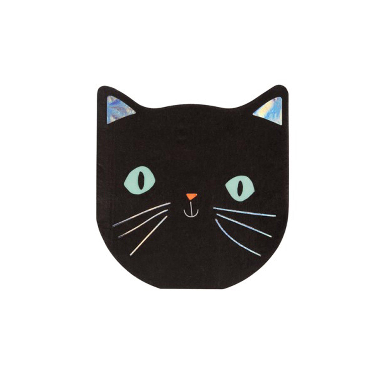 BUY ME / NEW ITEM $8.99 each Black Cat Paper Napkins - 16 Pack