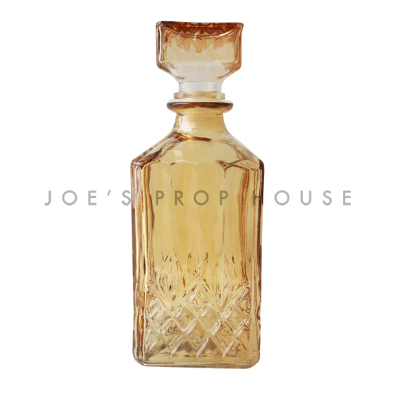 Delphine Cut Glass Decanter Amber