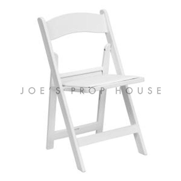 Martha White Padded Folding Chair