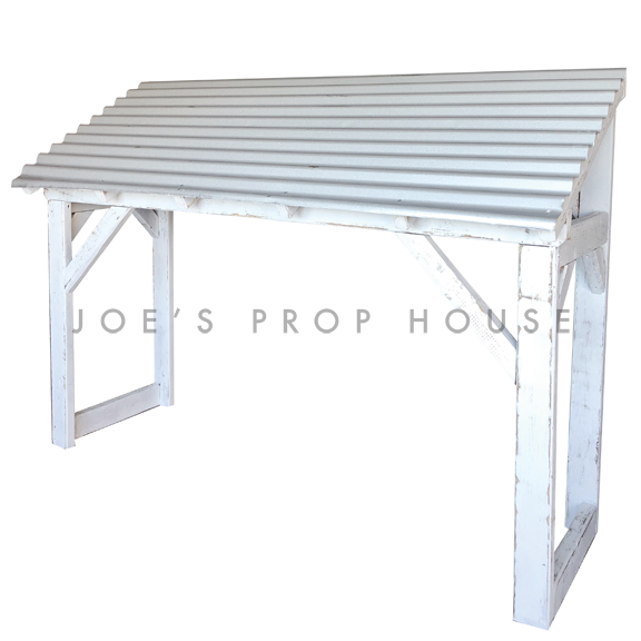 Corrugated Metal Awning w/Whitewash Structure
