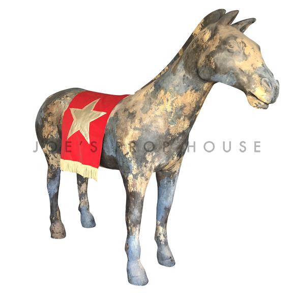 Red Velvet Gold Star Horse Cloak w/Fringe