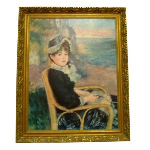 Renoir Reproduction By the Seashore Painting