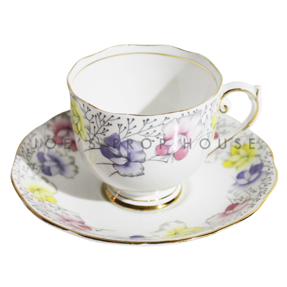 Dorothy Floral Teacup and Saucer