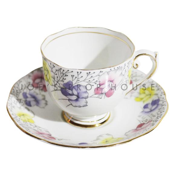 Tasse à thé et soucoupe florale Dorothy