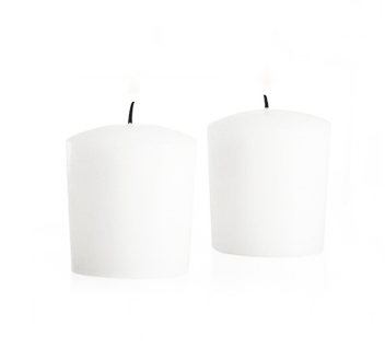 Unscented White Voitve Candles 10-12hrs