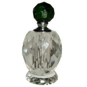 Green Stopper Crystal Perfume Bottle
