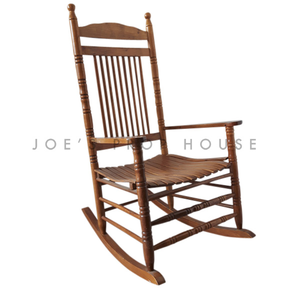 Abigail Wooden Rocking Chair Brown