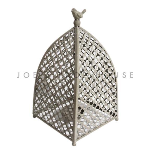 Birdie Metal Cage Lantern H17.5in