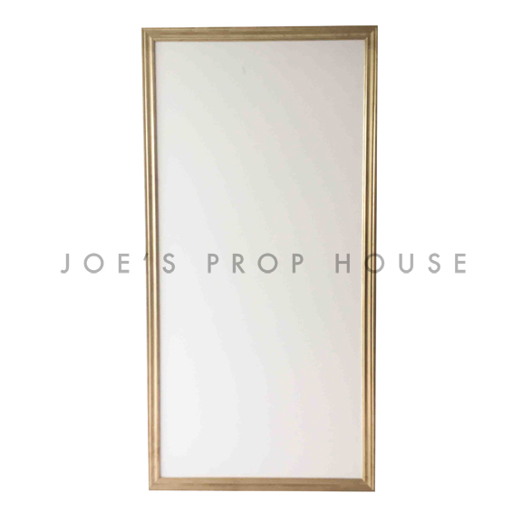 Self-Standing PLAIN Wall Ivory w/Gold Molding W4ft x H8ft