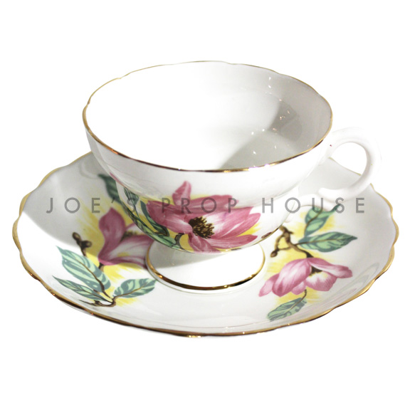 Georgia Floral Teacup and Saucer
