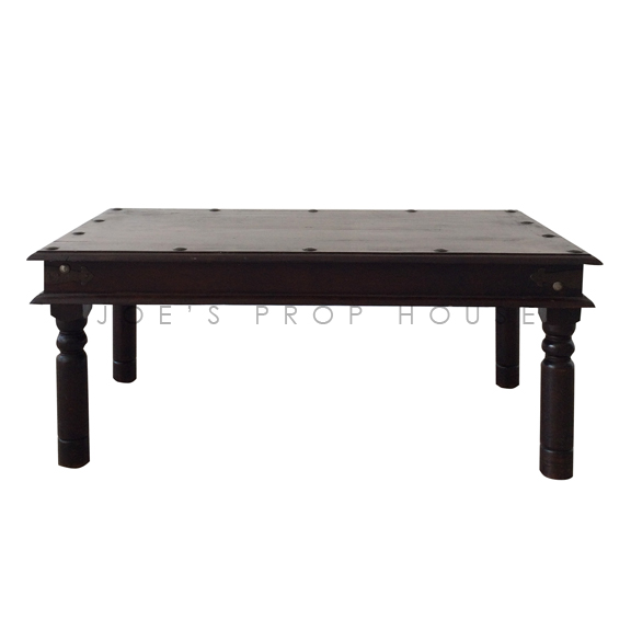 Rectangular Teak Coffee Table Dark Brown