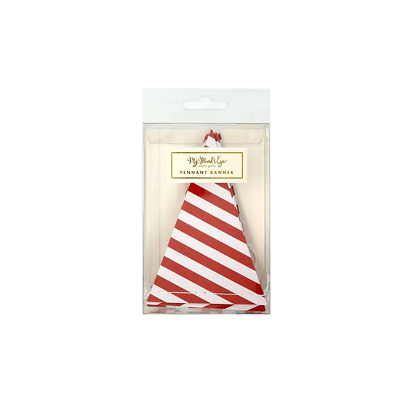 BUY ME / NEW ITEM $12.99 each Red & White 9ft Mini Striped Pennant Garland