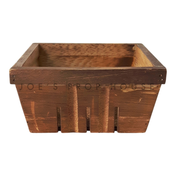 Wood Square Berry Basket Brown