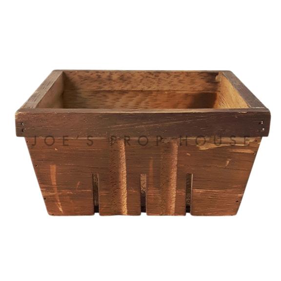 Panier à fruits en bois carré brun