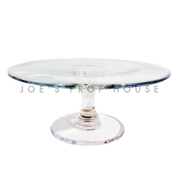 Liddel Clear Round Glass Cake Stand D12in