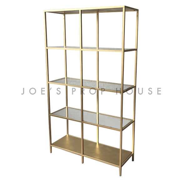 Edition Double 4 Shelf Barback Gold