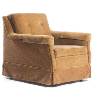 Polka Velour Armchair Brown