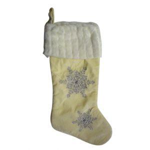 BUY ME / USED ITEM $12.99 Beaded Snowflakes Christmas Stocking