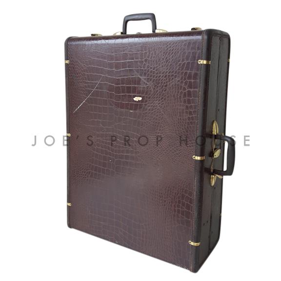 Bennett Hardshell Croc Wardrobe Suitcase Brown LARGE