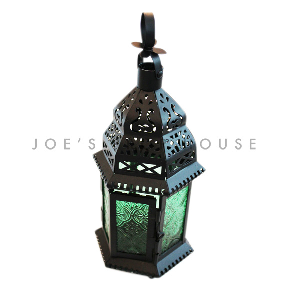Sansa Green Glass Lantern